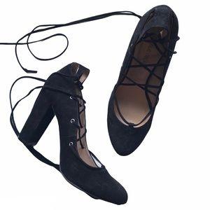 Wild diva lace up heels